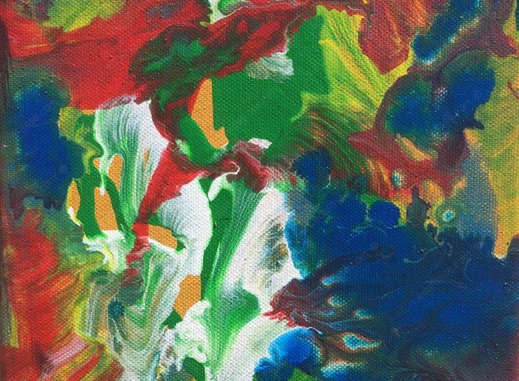 Jardin multicolore